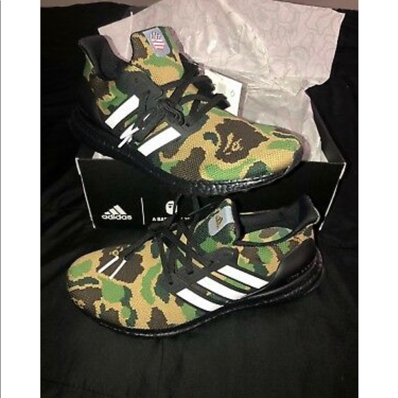 super popular 1507b 5c8be Bape x Adidas Ultra Boost 4.0 Green Camo Size 8.5